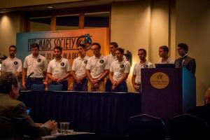 Das studentische Team von Mars18 in Houston (Texas) bei der Mars Society