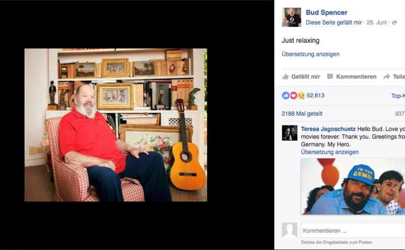 In Memory of Bud Spencer: Ein entspannter Schüler des Lebens