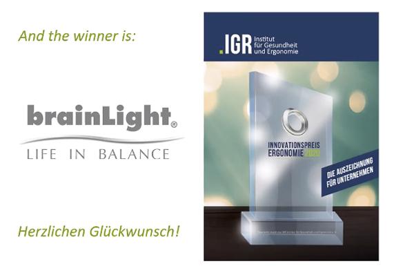 Die brainLight GmbH ist ausgezeichnet mit dem Innovationspreis Ergonomie